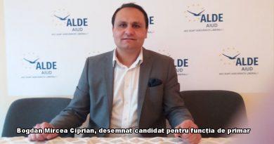 Bogdan Mircea Ciprian desemnat candidat ALDE pentru functia de primar