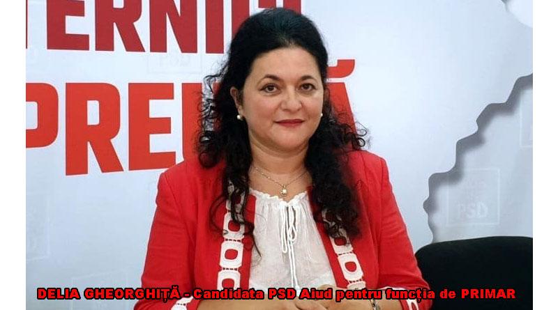 Delia Gheorghiță candidata organizației PSD Aiud pentru funcția de PRIMAR