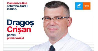 """Dragoș Crișan deschide lista candidaților""""ALIANȚA USR PLUS"""" pentru Consiliul Local"""
