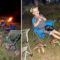 Momentul înfricoșător în care crabii canibali invadează o familie aflată la picnic