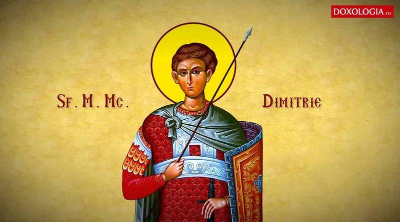 Sf. Mare Mucenic Dimitrie Izvorâtorul de Mir