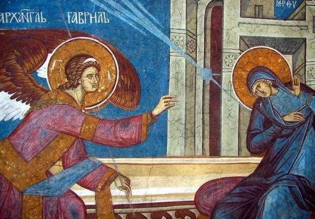 Buna Vestire în iconografia bizantină